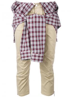 Брюки с завязанной рубашкой Dsquared2. Цвет: нейтральные цвета