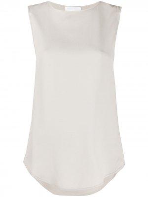Удлиненная блузка без рукавов Fabiana Filippi. Цвет: серый