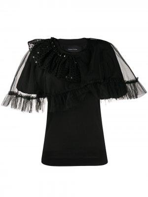 Декорированная блузка со вставками из тюля Simone Rocha. Цвет: черный