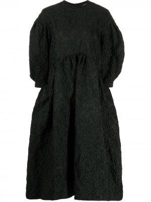 Фактурное платье миди Simone Rocha. Цвет: черный