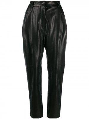 Зауженные брюки с завышенной талией Carmen March. Цвет: черный