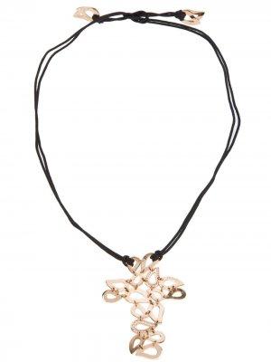 Ожерелье с крестом Gavello. Цвет: черный