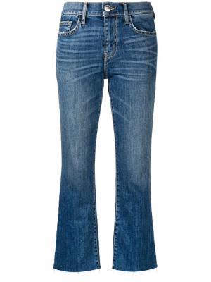 Укороченные джинсы прямого кроя Current/Elliott. Цвет: синий
