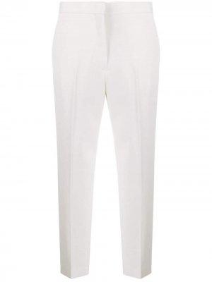 Укороченные брюки строгого кроя с завышенной талией Jil Sander. Цвет: нейтральные цвета