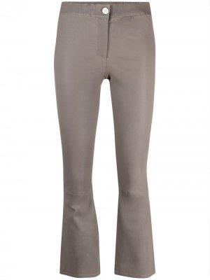 Расклешенные брюки средней посадки Arma. Цвет: серый