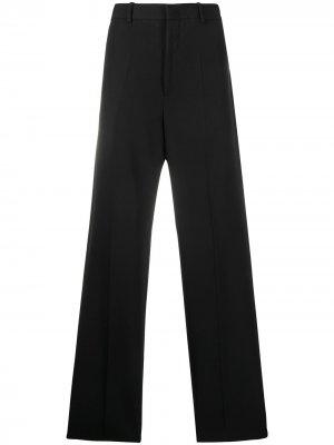 Длинные брюки прямого кроя Jil Sander. Цвет: черный