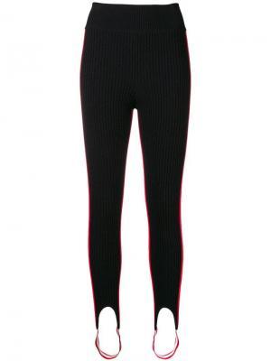 Striped panel stirrup leggings Calvin Klein 205W39nyc. Цвет: черный