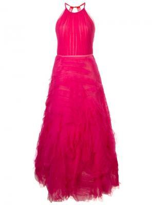 Long tulle dress Marchesa Notte. Цвет: розовый