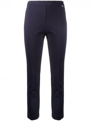 Укороченные брюки скинни TWINSET. Цвет: синий