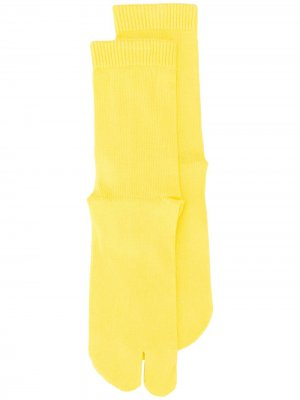 Носки Tabi Maison Margiela. Цвет: желтый
