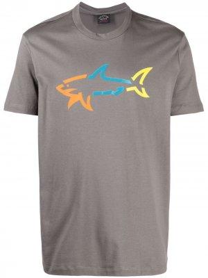 Футболка с логотипом Paul & Shark. Цвет: серый