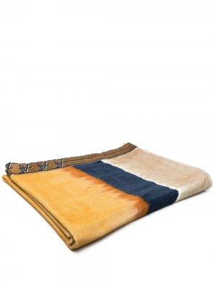 Пляжное полотенце в стиле колор-блок Alberta Ferretti. Цвет: коричневый