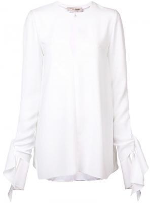 Блузка с вырезом капелькой Carolina Herrera. Цвет: белый