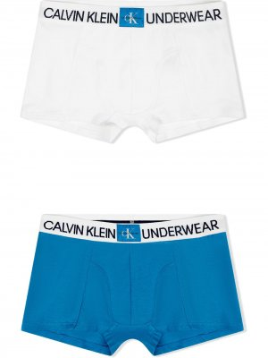 Logo band boxers pack of 2 Calvin Klein Kids. Цвет: белый