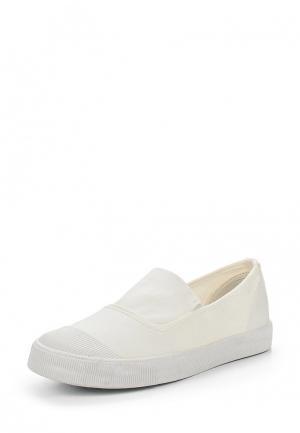Слипоны Ideal Shoes. Цвет: белый