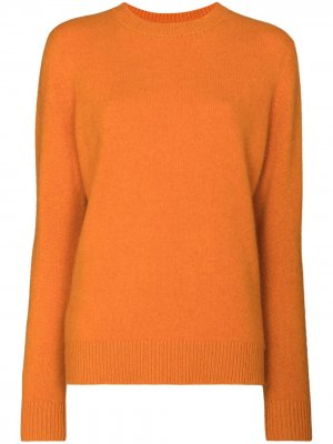 Свитер Simple с круглым вырезом The Elder Statesman. Цвет: оранжевый