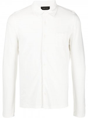 Рубашка из джерси Roberto Collina. Цвет: белый