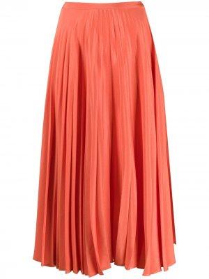 Плиссированная юбка Chinti and Parker. Цвет: оранжевый