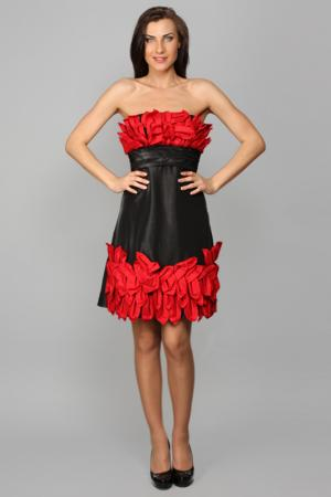 Платье Aftershock. Цвет: red, black