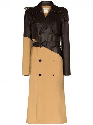 Пальто с поясом Bottega Veneta. Цвет: коричневый