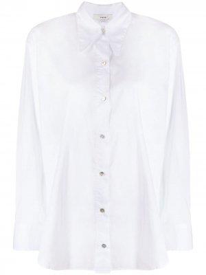 Рубашка с воротником челси Vince. Цвет: белый