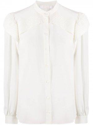 Блузка с оборками Chloé. Цвет: белый