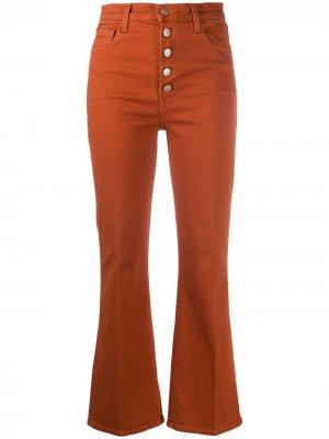 Укороченные расклешенные брюки J Brand. Цвет: оранжевый