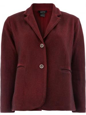 Приталенный пиджак Avant Toi. Цвет: красный