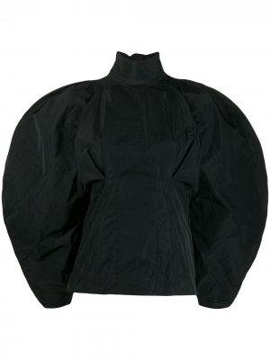 Блузка оверсайз из тафты Givenchy. Цвет: черный