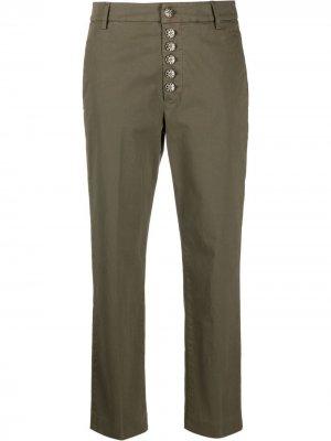 Укороченные брюки чинос Dondup. Цвет: зеленый