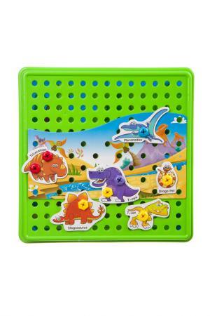 Мозаика для малышей BONDIBON. Цвет: зеленый