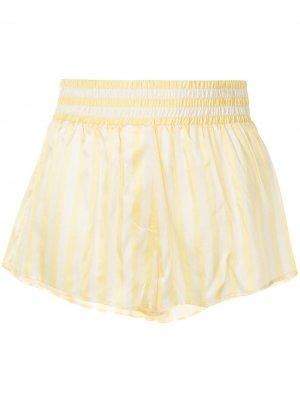 Пижамные шорты Corey Morgan Lane. Цвет: желтый