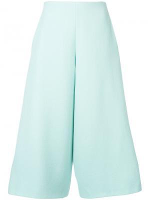 Укороченные брюки Delpozo. Цвет: зеленый