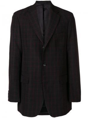 Классический пиджак в клетку Cmmn Swdn. Цвет: черный