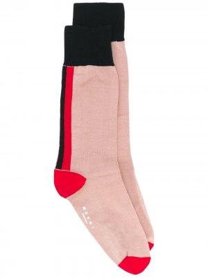 Носки со вставками и логотипом Marni. Цвет: розовый