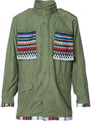 Куртка с нашивками Htc Los Angeles. Цвет: зелёный
