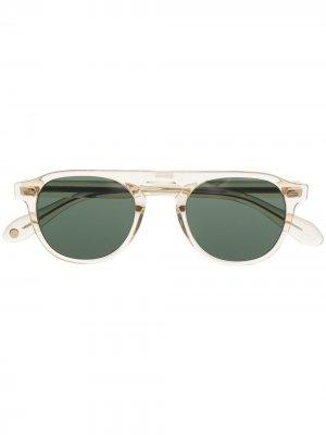 Солнцезащитные очки Harding в прозрачной оправе Garrett Leight. Цвет: нейтральные цвета