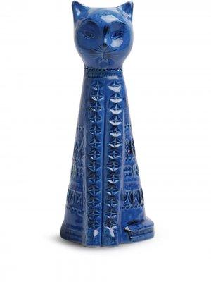 Высокая фигурка в виде кошки BITOSSI CERAMICHE. Цвет: синий