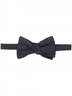 Жаккардовый галстук-бабочка Givenchy. Цвет: черный