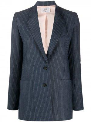 Пиджак в полоску Victoria Beckham. Цвет: синий