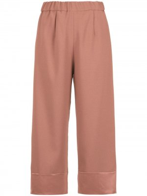 Juanita panelled pantacourt trousers Olympiah. Цвет: розовый