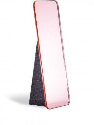 Настольное зеркало Olivia Pulpo. Цвет: розовый