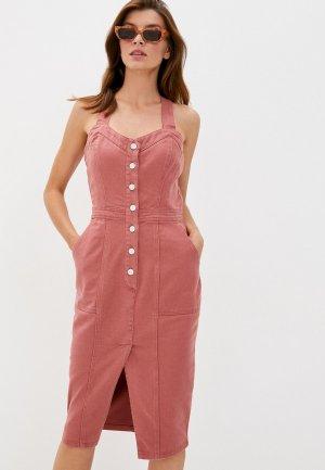 Платье джинсовое Love Republic. Цвет: розовый