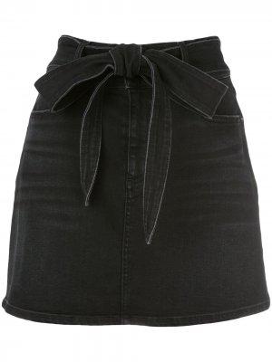 Джинсовая юбка мини Good Alice+Olivia. Цвет: черный