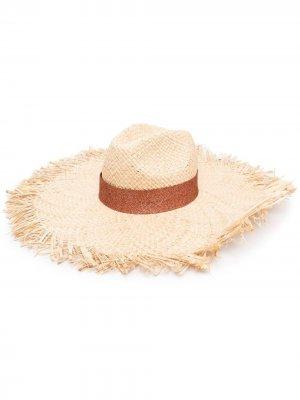 Плетеная шляпа Oséree. Цвет: нейтральные цвета