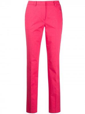 Строгие брюки прямого кроя Alberto Biani. Цвет: розовый