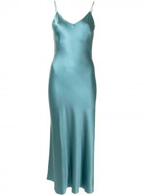 Платье-комбинация без рукавов Dannijo. Цвет: зеленый