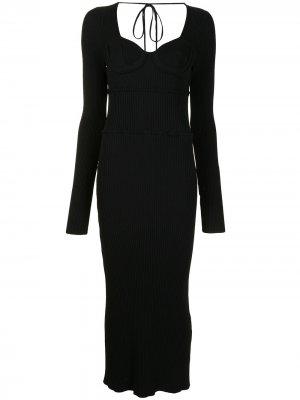 Платье Louisa в рубчик Altuzarra. Цвет: черный