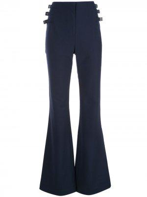 Расклешенные брюки с пряжками сбоку Jonathan Simkhai. Цвет: синий