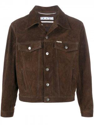 Куртка с логотипом Arrows Off-White. Цвет: коричневый